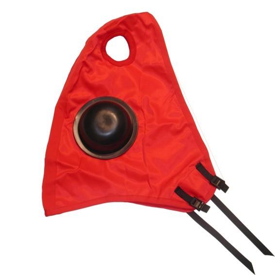Kopfkappe mit Augenschutz und Klettverschluss ohne Ohren